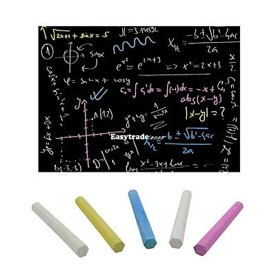 Chalkboard Wall Sticker Removable Blackboard Decal 45CMx200CM with 5 Chalks ESY1