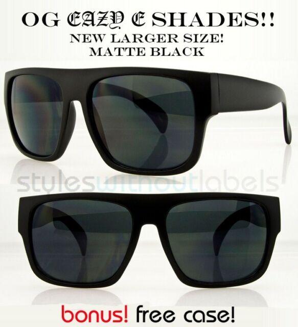 f05c64bba34 NEW XL OG Eazy E MATTE Black Locs DARK LENS Motorcycle Sunglasses Cholo X  Sports