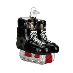 034-Hockey-Skates-034-44046-X-Old-World-Christmas-Glass-Ornament-w-OWC-Box