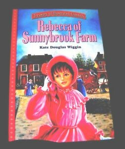 REBECCA-Of-SUNNYBROOK-FARM-HC-LARGE-PRINT-Printed-in-Italy-ILLUSTRATED-CLASSICS