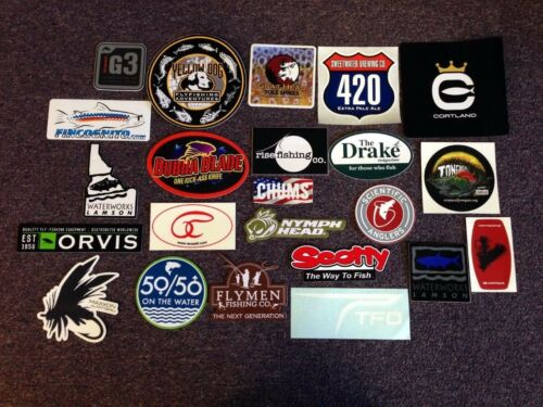 23 Fly Fishing Stickers #23B Orvis Simms Lamson Umpqua Goad Head Rise Fishing