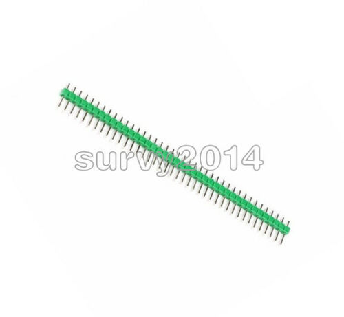 10PCS 2.54mm Green 40Pin 1x40P Male Breakable Pin Header Strip Connector new