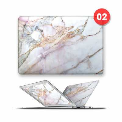 MATTE HARD TOP FRONT CASE COVER FOR APPLE MAC MACBOOK AIR PRO 11 12 13 15 MARBLE