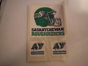 Vintage-Authentic-Original-Saskatchewan-Roughriders-Sticker-Set-CFL-RARE-1980s