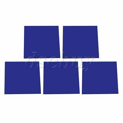 5Pieces Dark Blue Transparent Acrylic Board Organic Glass Polymeth 8x8x0.23cm