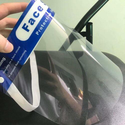 Visière de Protection  Anti-Projection Goutelette Transparente PVC Neuf