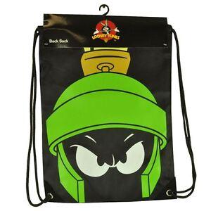 warner bros looney tunes marvin  martian cinch string  sack school bag ebay