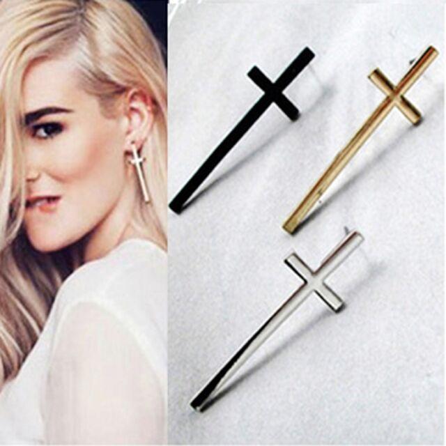 Vintage Retro Cross Earring Crucifix Ear Stud Ear Jewelry Women Fashion Style