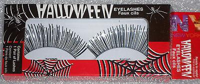 NIB Store Pulls NYC Coty  380 Black & Silver Halloween Eye Lashes  Self-Adhesive