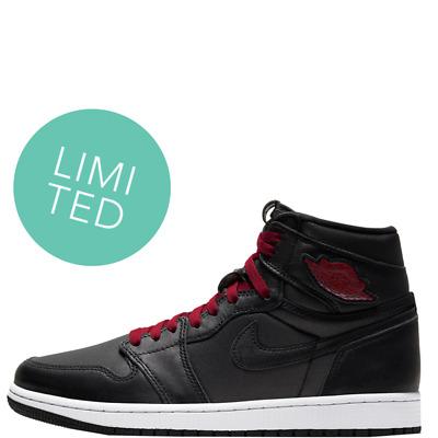 Air Jordan 1 Rétro Haut Og Satin Noir Rare Baskets Limité Chaussures   eBay