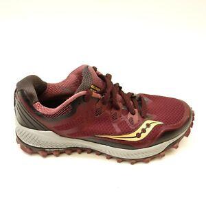 Detalles de Saucony Mujer Peregrine 7 Malla Atlético Soporte Terrain Atletismo Zapatos 7.5