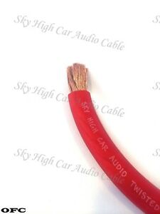 25 /' ft 4 Gauge OFC AWG ORANGE Power Ground Wire Sky High Car Audio GA feet