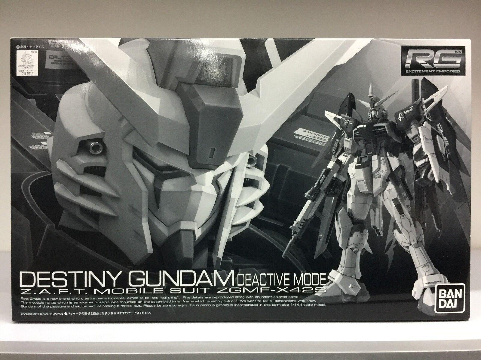 Premium Bandai 0184017 RG 1 144 Destiny Gundam Deactive Mode ZAFT MS ZGMF-X42S
