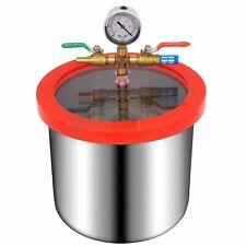 2 Gallons Vacuum Chamber Urethane Silicone Degassing For 3 Cfm Vacuum Pump