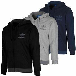 Adidas-Originals-New-Men-039-s-SPO-Trefoil-Fleece-Full-Zip-Hooded-hoodie