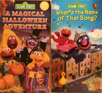 Marvelous Sesame Street VHS Tape Whats The Name Of That Song A Magical Halloween  Adventure   EBay