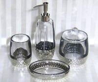 Bella Lux Thick Glass Silver Glazed Bathroom Vanity Accessories U-pick Free Ship