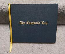 Boat Captains Log Book sailing ship nautical hardback maps charts