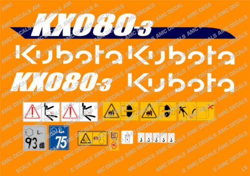 Kubota Kx080-3 Mini