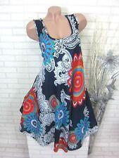 SOMMER Kleid Strandkleid Tunika Trägerkleid Hippie Blau D Gr. 42 44 46 (2668)