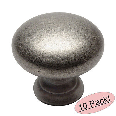 *10 Pack* Cosmas Cabinet Hardware Weathered Nickel Round Cabinet Knob #9462WN
