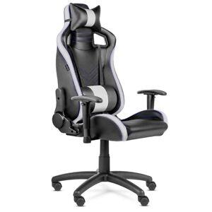 Detalles de Silla oficina Gaming PRO despacho escritorio reclinable  giratoria Blanca -McHaus