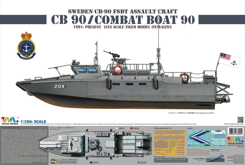 Tiger Model 1 35 6293 Combat Boat 90 CB90
