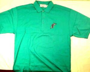 Florida-Marlins-Vintage-90-039-s-Starter-Short-Sleeve-Polo-Golf-Shirt-Sz-L