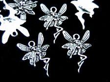 10 x Tibetan Silver 22mm Fairy Angel Charms / Pendants Jewellery Craft Q187