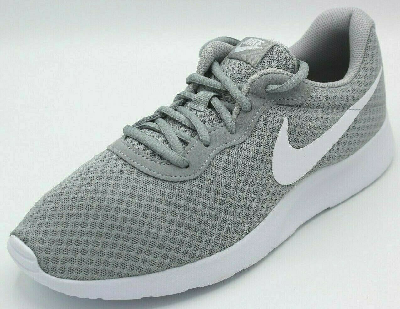 Nike Mens Tanjun Wolf Grey White 812654 010 New Size 9 and 9.5