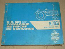 Catalogue Pièce Rechange Tracteur RENAULT R7051 tractor traktor trattore