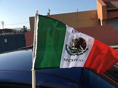 Mexico double sided soccer fan car flag.