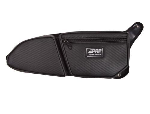 PAIR-Set of 2 BLACK Piping PRP Seats Polaris RZR 900 Trail Door Bag w//Knee Pad
