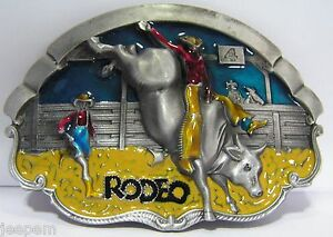 Rodeo Bull Rider Belt Buckle Country Western Cowboy Line Dancing 3D ... ae75178fb9c