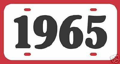 1965 OLDSMOBILE PONTIAC CHEVROLET BUICK LICENSE PLATE