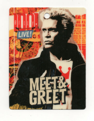 Billy Idol Laminated Meet & Greet Backstage Pass