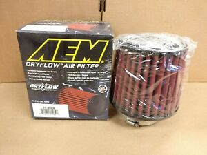 CLOSEOUT-AEM-REPLACEMENT-DRYFLOW-AIR-INTAKE-FILTER-3-034-INLET-5-034-LENGTH