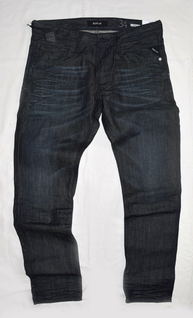 Replay Anbass Waterzero Mens jeans Slim fit size 36 32 NWT M914.000.998.624