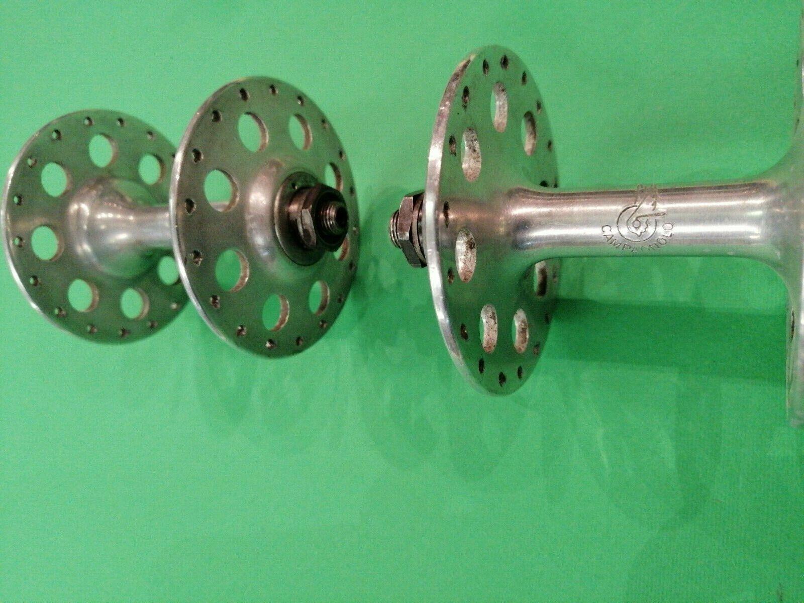 Hubs Mozzo Campagnolo corsa flange grandi 36 36 36 fori 5 6 velocità Vintage  Hubs rar 700166