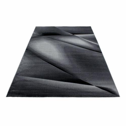 Morgenland AADA Designerteppich Schwarz Grau Abstraktes Muster Läufer Modern