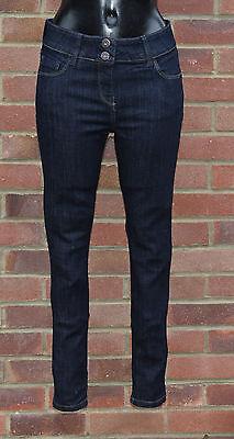 Women Ladies EX-M/&S Brand New Skinny Slim Leg Blue Indigo Plus Size Jeans 8-20.