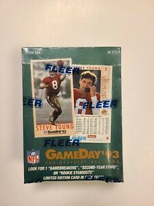 1993-Fleer-Game-Day-NFL-Football-Hobby-Box-Factory-Sealed