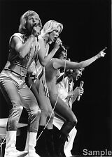 Abba Swedish Pop Group In London 1970s Glossy Photo Music Print Picture A4