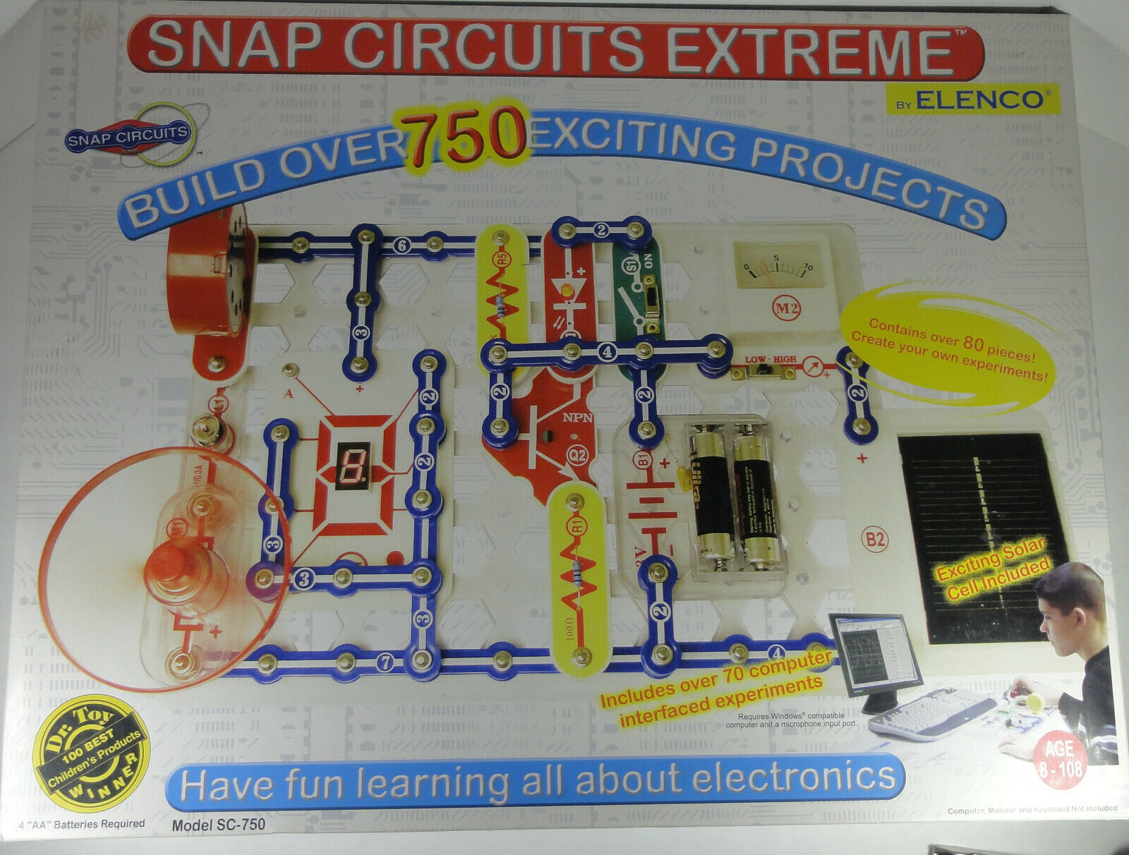 Snap Circuits Extreme - Build over 750 Electronic Projects - Model SC-750