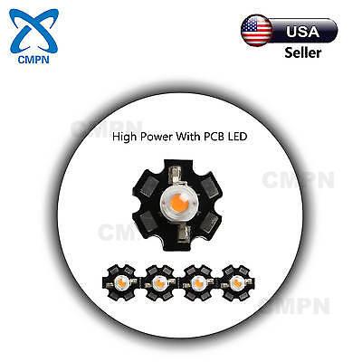 10Pcs 3W Watt High Power Full Spectrum 380-840nm SMD LED Chip COB Lamp Plant
