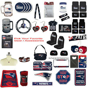 New NFL New England Patriots Pick Your Gear   Accessories Official ... f0d5617d49e7