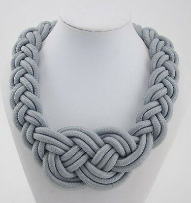Hot Sell Fashion Occident style handmade woven Chinese knot cotton rope necklace