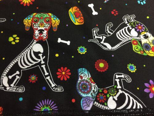 Giorno dei Morti Scheletro cani Bandana Biker Gothic Bones Sciarpa Testa feeanddave