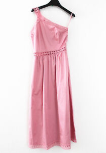 739ef0338 Image is loading Ted-Baker-315-Asymmetric-Cotton-Dress-Pink-Ted-
