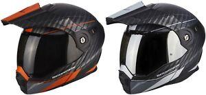 Scorpion Adx 1 Dual Enduro Casque Modulable De Moto Tout Terrain Mat